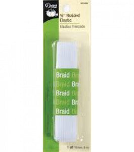 "Dritz 3/4"" Braided Elastic White"