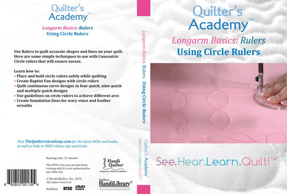 Quilter's Academy Longarm Basics: Rulers Using Circle Rulers DVD