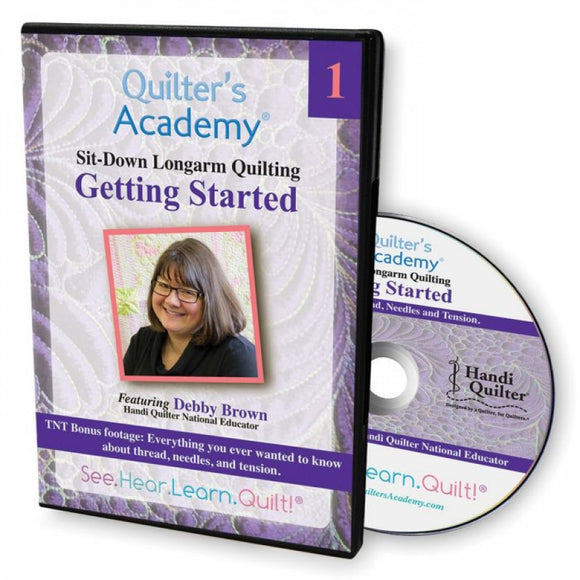 Quilter's Academy Sit-Down Longarm Quilting Getting Started DVD