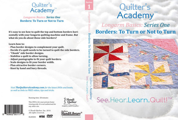 Quilter's Academy Longarm Basics: Series One Borders DVD