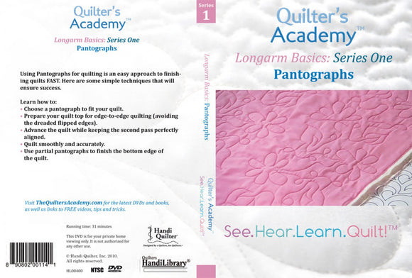 Quilter's Academy Longarm Basics: Series One Pantographs DVD