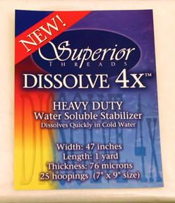 Dissolve-4X Water Soluble Stabilizer 1 yd.