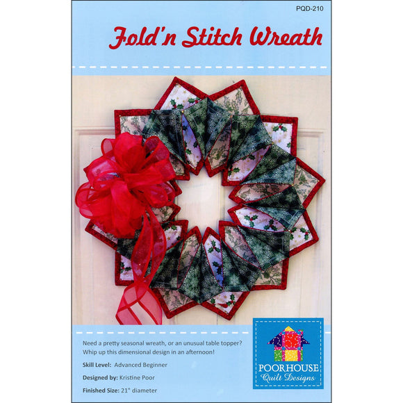Fold 'n Stitch Wreath Pattern