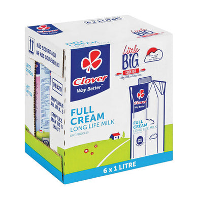 Clover Long Life Full Cream 1L x 6 Milk - the-squire-online