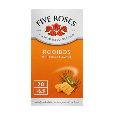 Five Roses Rooibos with Honey 20 Teabags - the-squire-online
