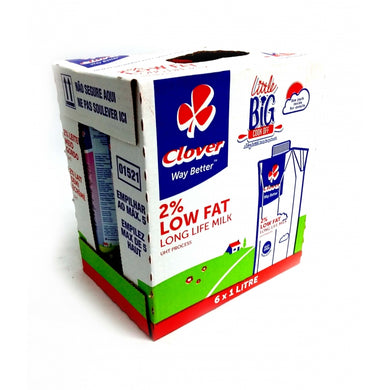 Clover Long Life Low Fat 1L x 6 Milk - the-squire-online