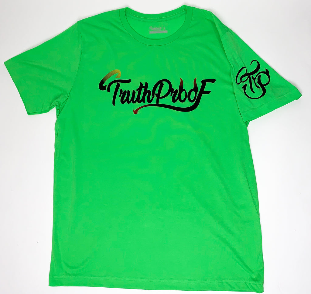 TruthProof Classic Neon Green Unisex solid color Premium T-shirt
