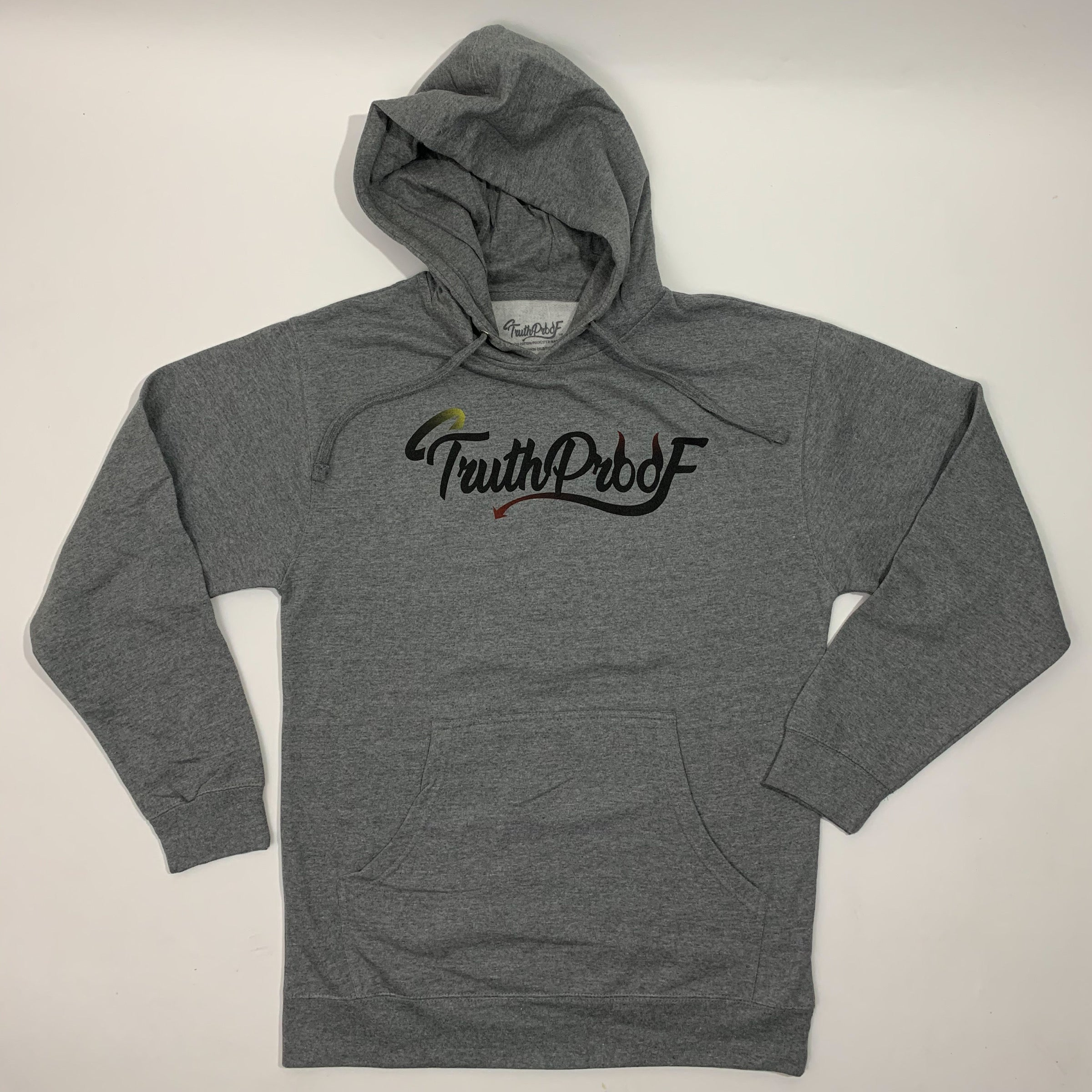 TruthProof Classic Gunmetal Heather Midweight Hoodie