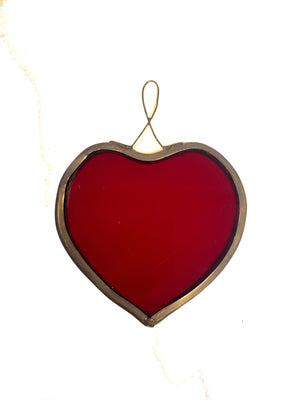 Ruby Stained Glass Heart