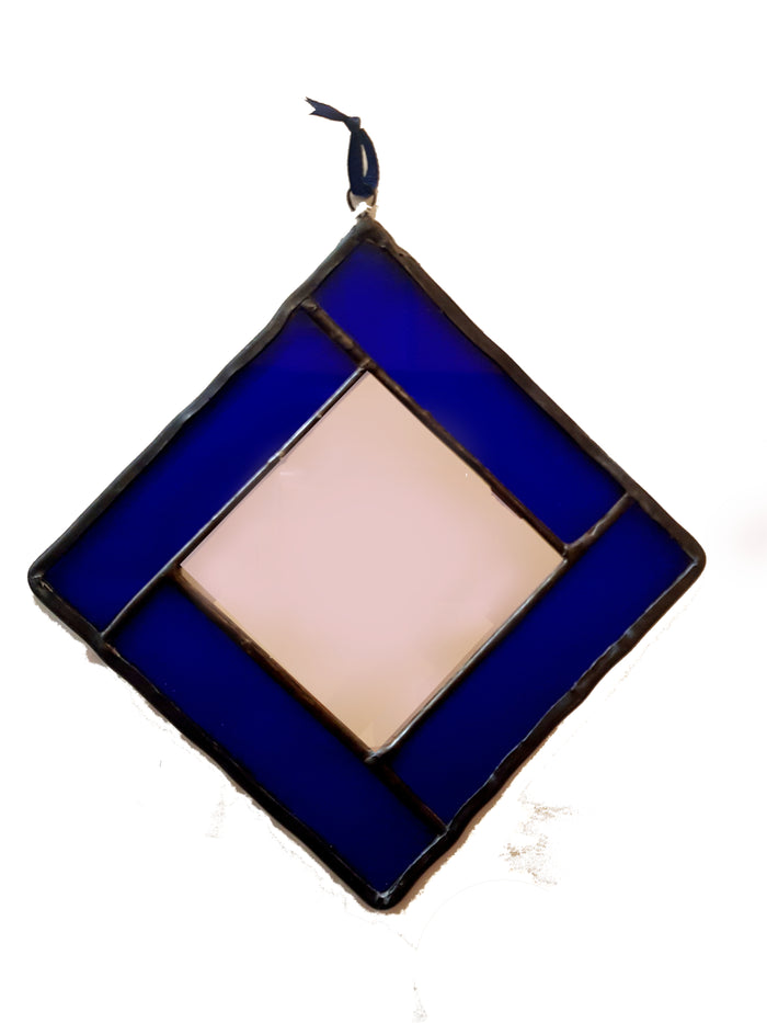 Bristol Blue Stained Glass Mirror