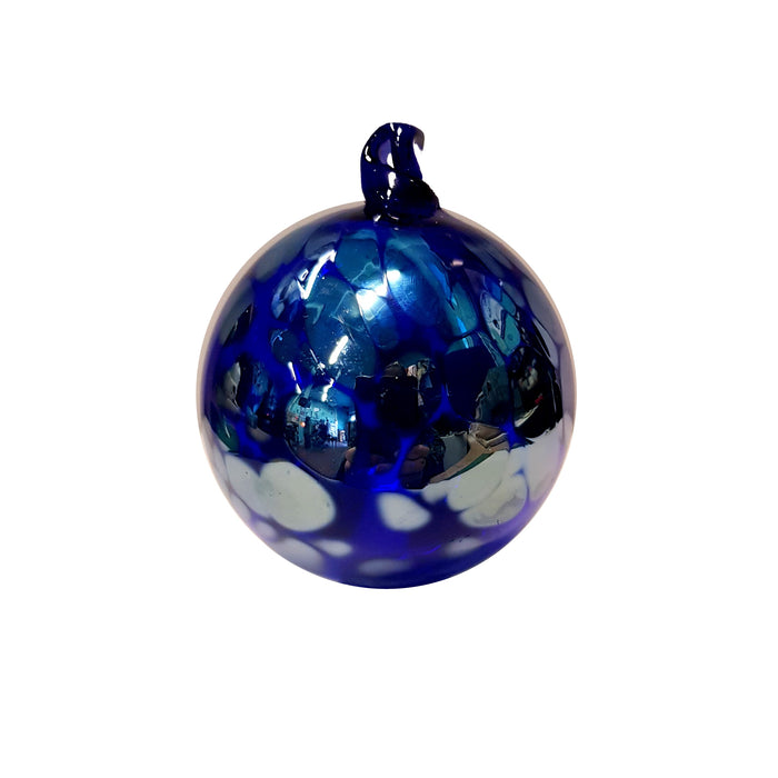 "Mini Bristol Blue ""Aurora"" Bauble"