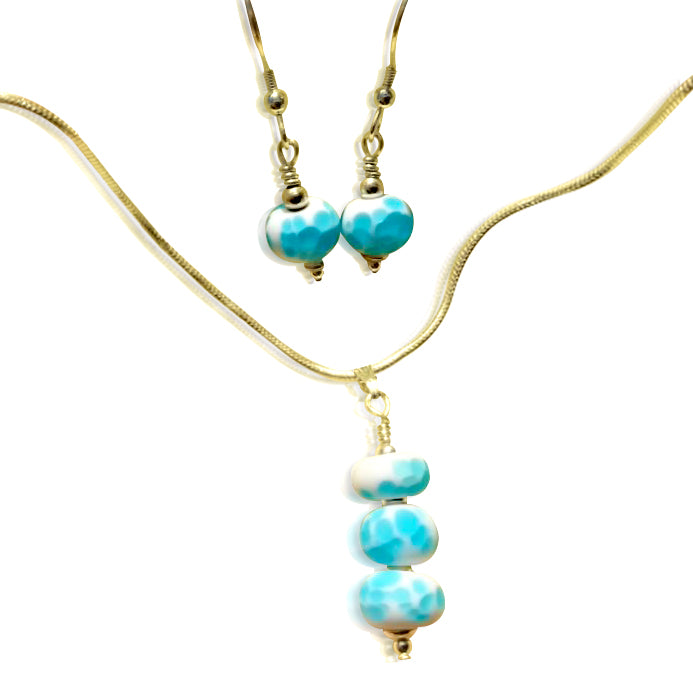 """Belisama Bounty"" Aqua Jewellery Set"