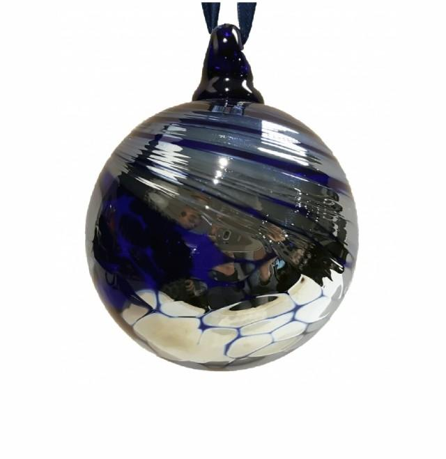 "Blue Glass ""Aurora"" Bauble"