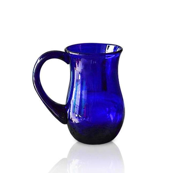 Blue Glass Beer Mug