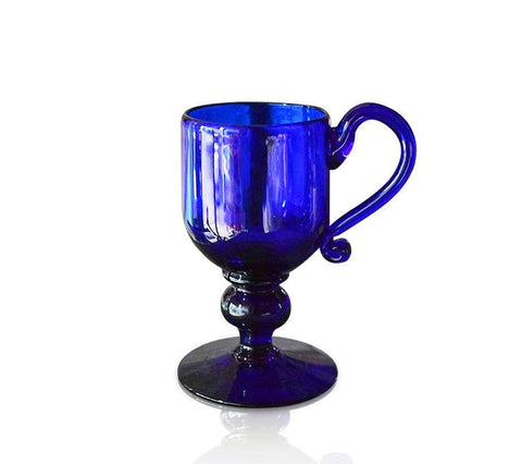 Blue Glass Christening Cup