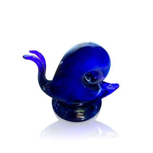 Blue Glass Snail Sculpture