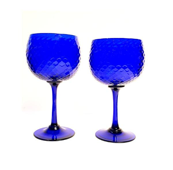 "Blue ""Ballottone"" Gin Glass"