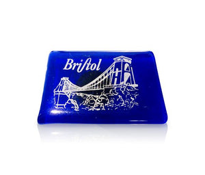 Clifton Bridge Blue Glass Magnet