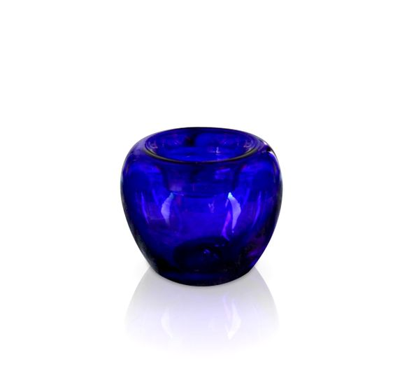 Blue Glass Inkwell