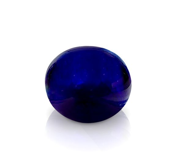 Bristol Blue Glass Round Paperweight