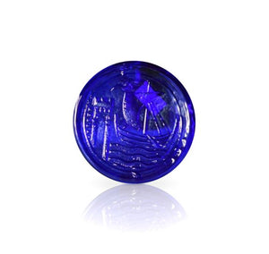 Blue Glass Water Gate Coaster
