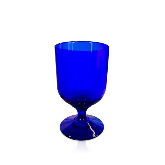 Blue Glass Mini Goblet
