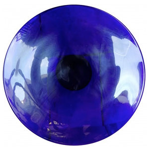 Large Blue Glass Plate