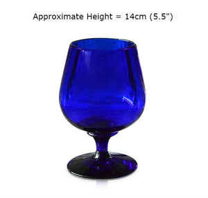 Blue Brandy Glass