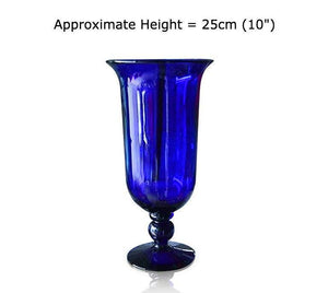 Blue Glass Imperial Vase