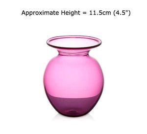 Buy Medium Ruby Red Round Glass Vases at BlueGlassWorks