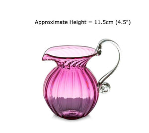 Buy Round Optic Ruby Red Glass Jugs at BlueGlassWorks
