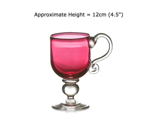 Buy Ruby Red Glass Christening Cups at BlueGlassWorks