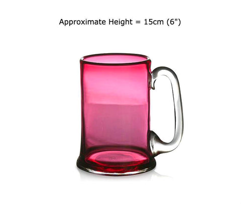 Buy Ruby Red Glass Straight-Sided Tankards at BlueGlassWorks