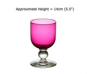 Buy Ruby Red Glass Wine Goblets at BlueGlassWorks