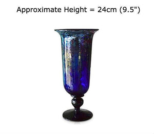 Buy Silver Swirl Blue Glass Imperial Vases at BlueGlassWorks