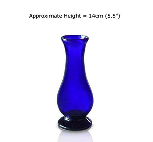 Buy Small Blue Glass Bud Vases at BlueGlassWorks