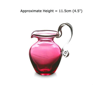 Buy Small Round Ruby Red Glass Jugs at BlueGlassWorks