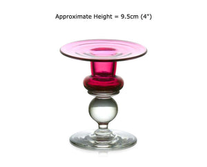 Buy Small Ruby Red Glass Candle Holders at BlueGlassWorks