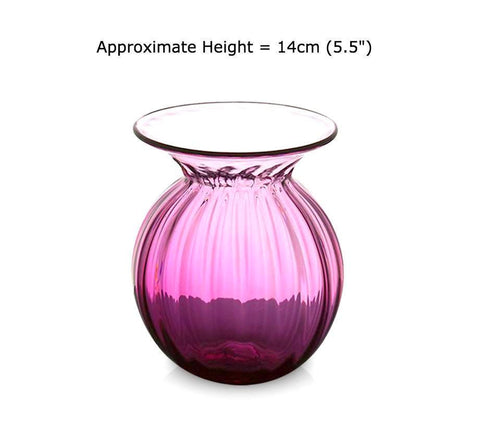 Buy Small Ruby Red Glass Bud Vases at BlueGlassWorks