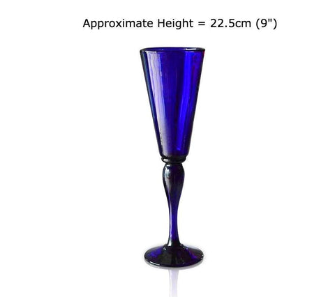 Buy this Blue Glass Champagne Flute at BlueGlassWorks