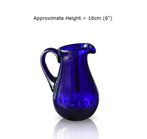 Blue Glass Milk Jug