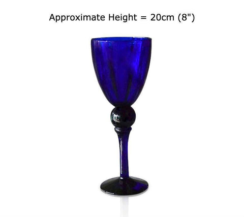 Buy this Blue Glass Temple Goblet at BlueGlassWorks