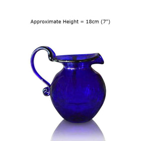Buy this Large Round Blue Glass Jug at BlueGlassWorks