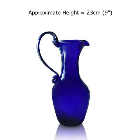 Buy this Large Tall Blue Glass Jug at BlueGlassWorks