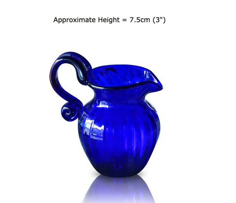 Buy this Miniature Optic Blue Glass Jug at BlueGlassWorks
