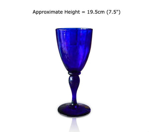 Buy this Redcliffe Blue Glass Goblet at BlueGlassWorks