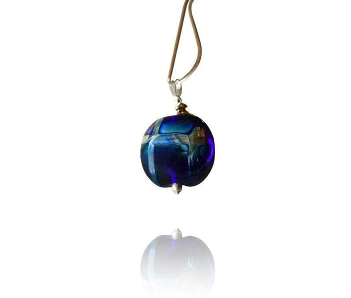 """Aurora"" Blue Bead Pendant Necklace"