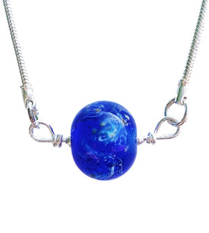 Cremation Memorial Forget-Me-Not Pendant - Bristol Blue