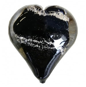 Cremation Memorial Hand Held Heart - Black
