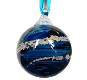 Cremation Memorial 'Meminisse' Orb - Aqua Blue